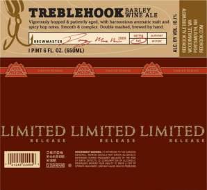Label from the Redhook Treblehook Barley Wine (Limited Release)