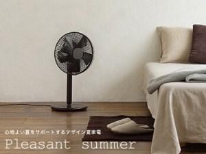 部屋の中のおしゃれな扇風機