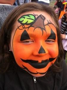 かぼちゃ|ハロウィンのフェイスペインティング