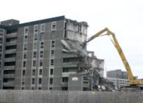 destroying a building