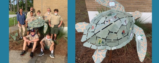 Sea Turtle Sculpture made by Boy Scout Troop 0347
