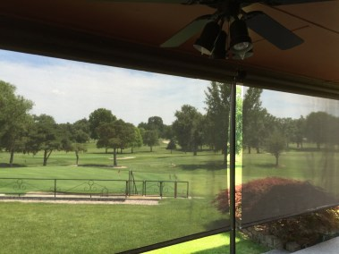Rattan Shades patio view of golf course