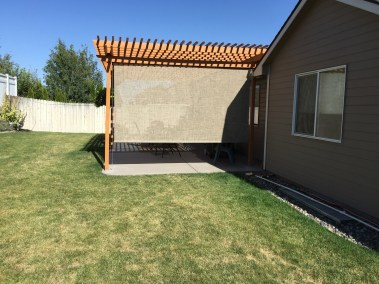 Boxed Rattan Cable Guided Shade