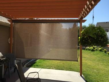 Rattan Solar Shade on Pergola
