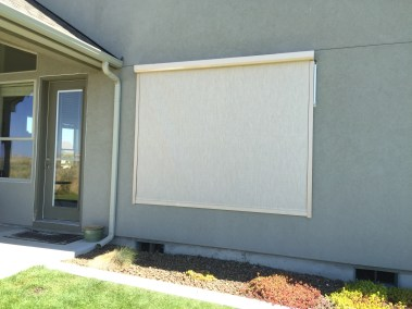 Stucco Fabric Solar Power - Motorized