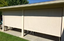 Stucco Shades with Bungees