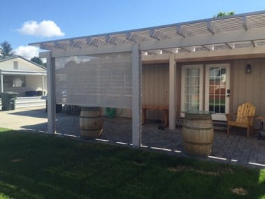 Stucco Sun Shade On Pergola