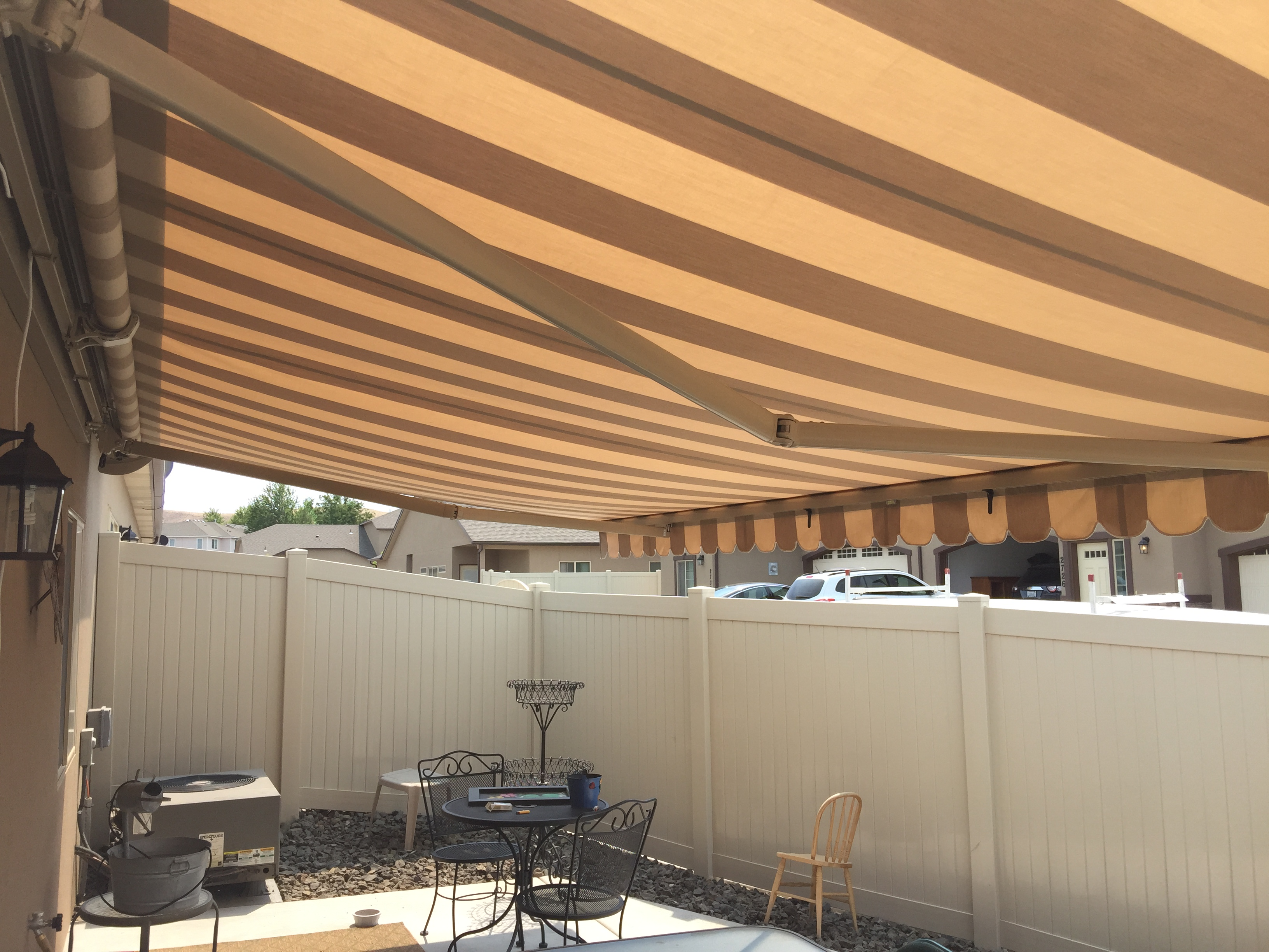 Retractable Awning Manhattan Dune Fabric