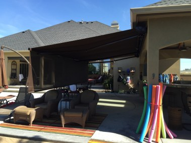 Retractable Awning with Front Drop Shade