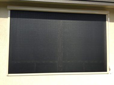 Black Track Window Solar Shade