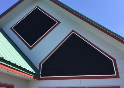Solar Screens on Shaped Window Frames
