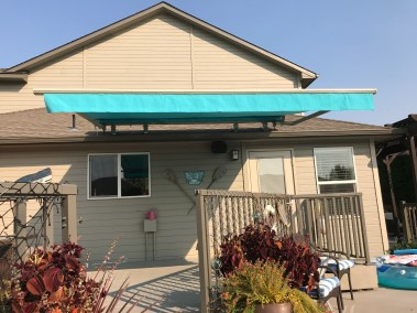 Motorized Awning with Aruba Sunbrella Fabric