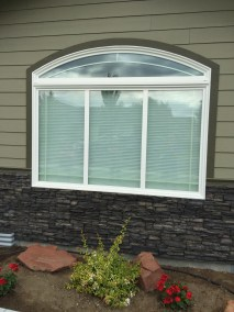 Arched Window Before Black Solar Screen