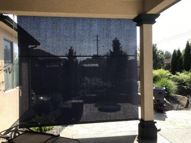 View through Navy Solar Shade