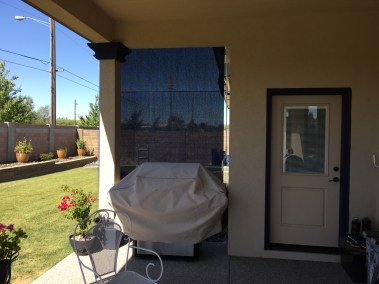 Custom Navy Cable Guided Shade