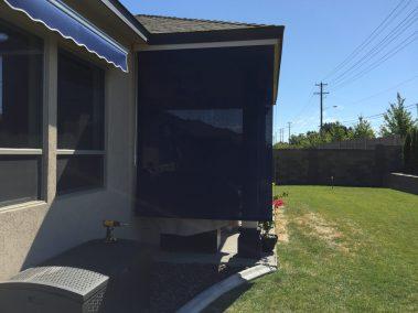 Light Beige Box with Navy Solar Shade
