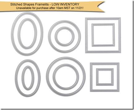 stitched shames framelits low inventory copy