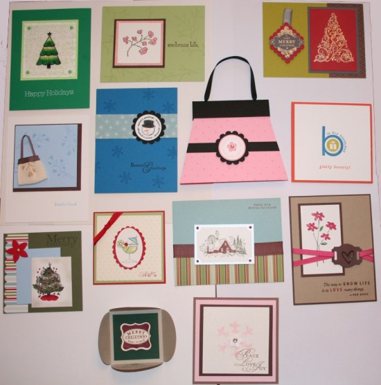 All the cards I got at the end of the swap plus mine.
