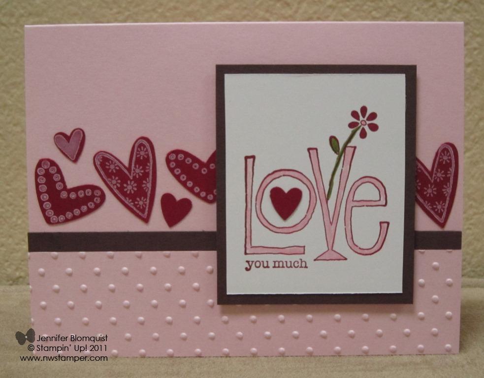 Love You Much Valentine Northwest Stamper – Talking Valentine Cards