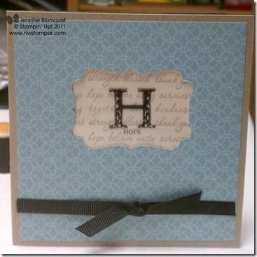 Strength and Hope window card