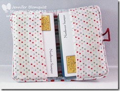 stampin up fabric card holder inside