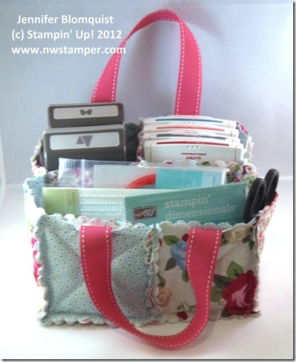stampin up fabric caddy front
