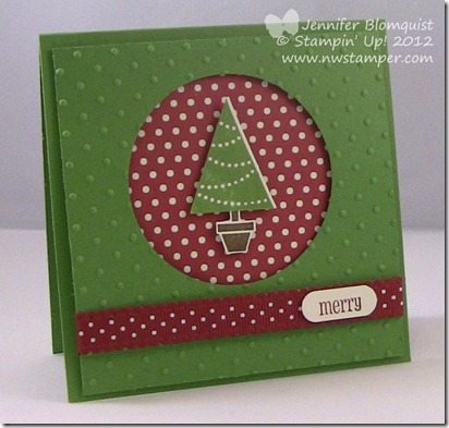 Pennant Parade Christmas Tree full card