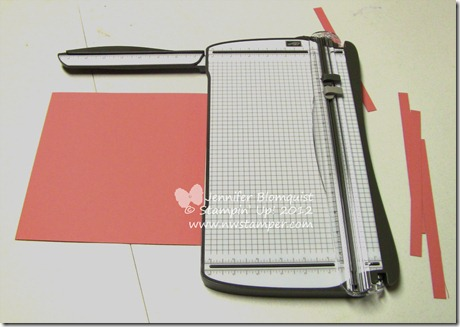Stampin Trimmer with arm extended