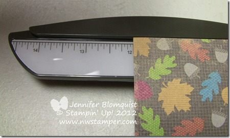 full length of Stampin Trimmer extended arm