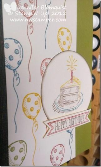 Sketched Birthdays Birthday card close up