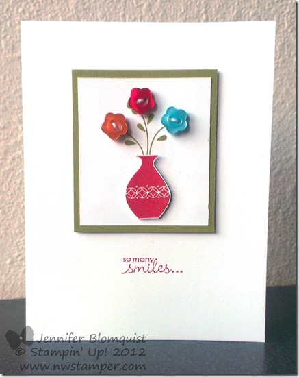 Button Buddies Clean and Simple Flower Vase card full