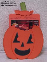Jack o Lantern gift card holder