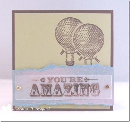 You're Amazing Masculine card with bleaching