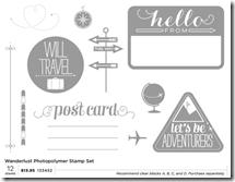Wanderlust photopolymer stamp set