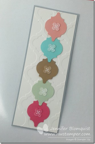 2013 In Color Bookmark with Mosaic Punch