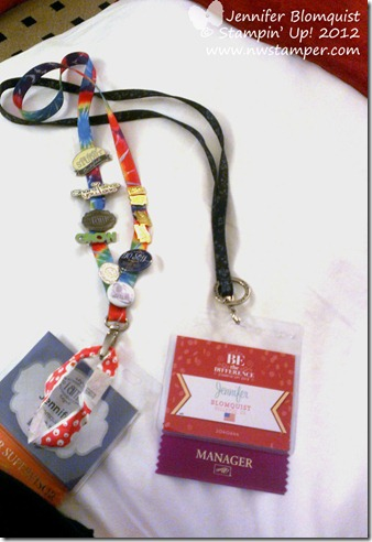 convention 2013 name tag and lanyard