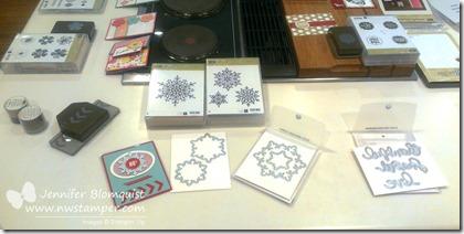 Festive Flurry samples display