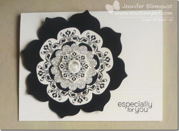 Glitter floral frames elegant card