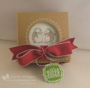 Window gift box with Best of Snow hedgehogs