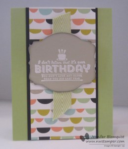 Sweet sorbet birthday card