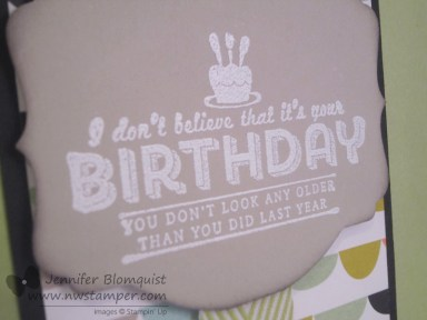 see ya later embossed birthday close up