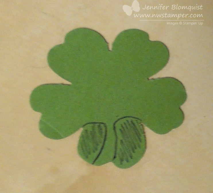 how to make a shamrock from flower punch