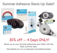 stampin up adhesive stock up sale