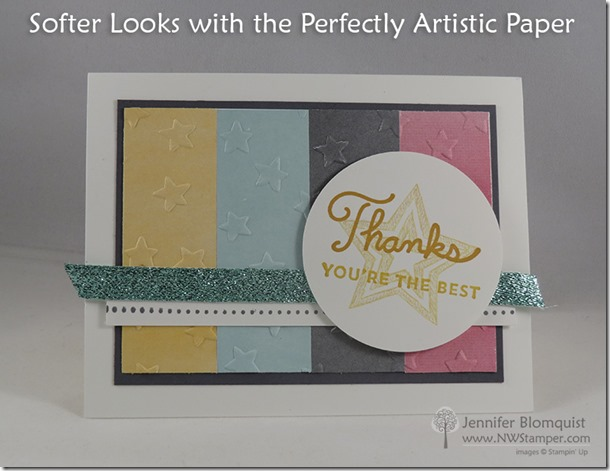 Sunburst Sayings with Embossed Perfectly Artistic paper Thank You