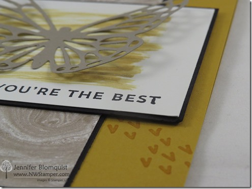sunburst sayings butterfly card close up