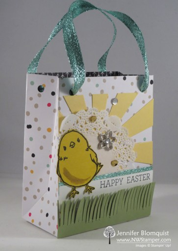Honeycomb Happiness Easter Gift Bag Punch Board