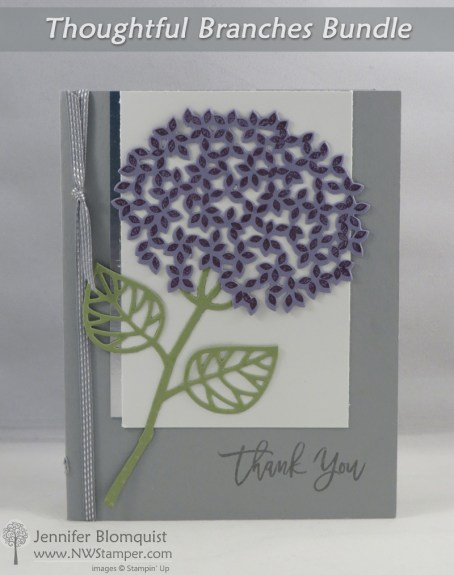 Thoughtful Branches Hydrangea Card in Silver