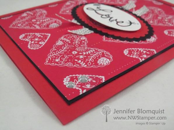 Love Sparkles Valentines Day Card metallic enamel shapes