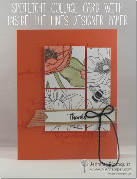 Spotlight Collage card with Inside the Lines designer paper