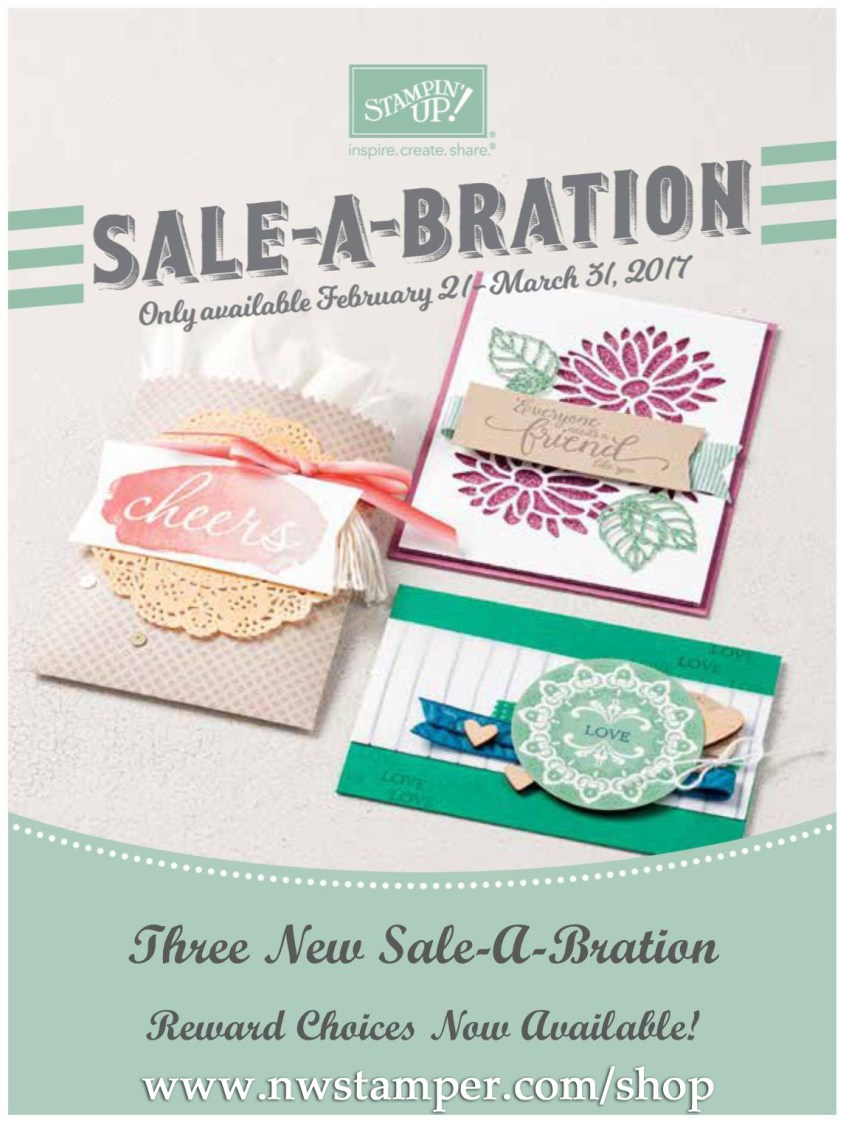 Sale-a-Bration flyer cover with 2017 additional choices on nwstamper.com